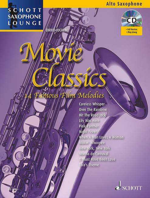 Movie Classics with appended piano part edition with CD alto saxophone 9790001